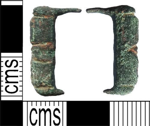 LANCUM-191A25: Copper-alloy buckle fragment