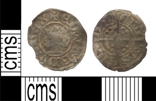 LANCUM-1EFC79: Silver hammered halfpenny of Edward III