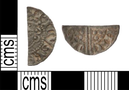 LANCUM-1FBFE6: Silver cut halfpenny Henry III