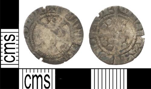 LANCUM-203812: Silver hammered penny Edward I