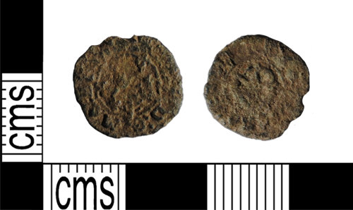 LANCUM-2309B1: Copper-alloy rose farthing of Charles I
