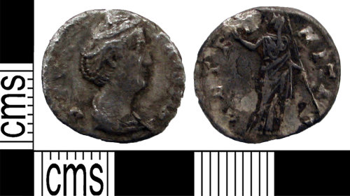 LANCUM-4D0089: Silver denarius of Diva Faustina the Elder
