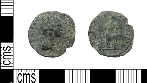 LANCUM-4E97D5: Copper-alloy core from a denarius of Julia Domna