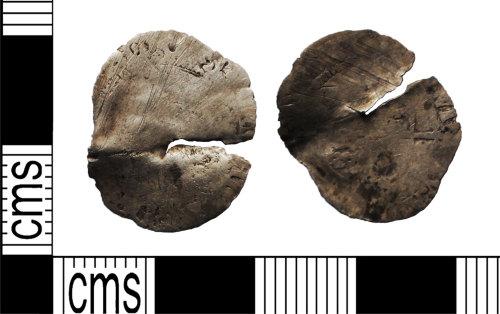 LANCUM-53D73C: Broken silver hammered coin, probably sixpence Elizabeth I