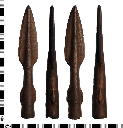 LANCUM-5B06F4: Copper-alloy socketed spearhead