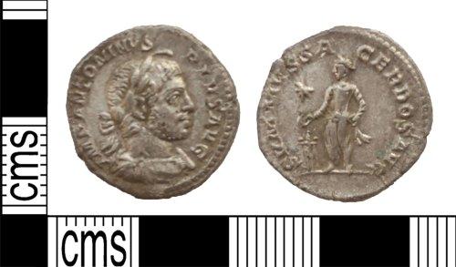 LANCUM-694BF2: Silver denarius of Elagabalus
