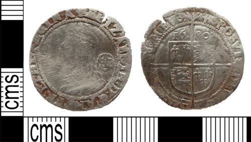 LANCUM-9FB26D: Silver sixpence Elizabeth I