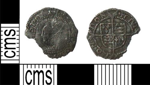 LANCUM-CBC783: Threehalfpence Elizabeth I
