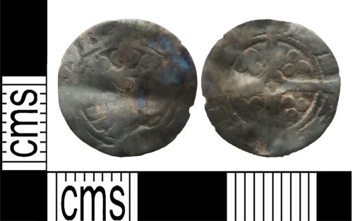 LANCUM-D95776: Silver hammered penny of Edward III