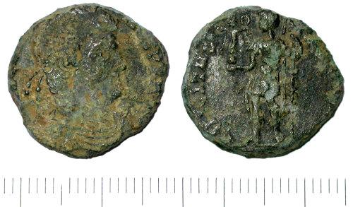 SUR-8BC935: Roman: A nummus of Magnentius