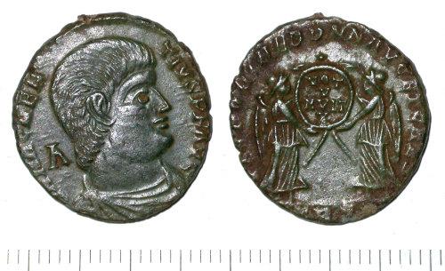 SUR-479E44: Roman coin: A nummus of Magnentius