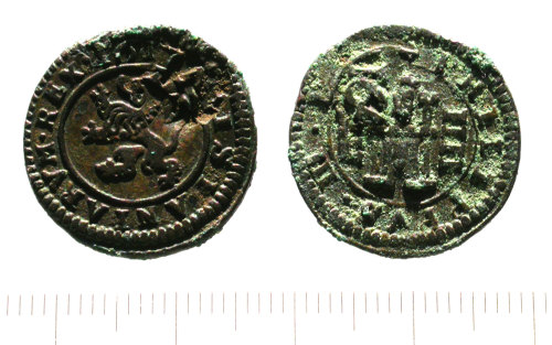 SUR-BEF6C6: Post medieval coin: Philip III