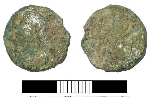SUR-6960B2: Roman coin: Nummus of Magnentius