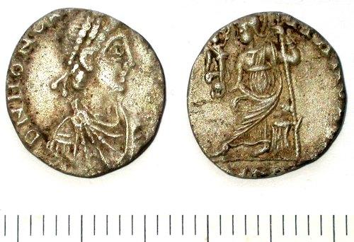 SUR-8DB041: Roman coin: A siliqua of Honorius