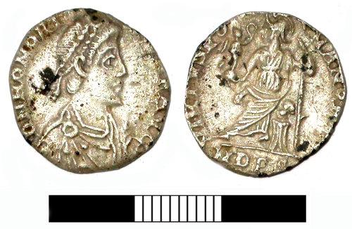 SUR-71AF66: Roman coin: A siliqua of Honorius