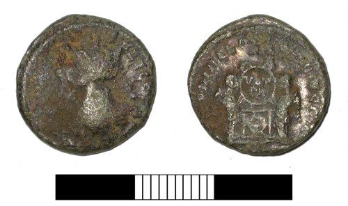 SUR-BF2EA0: Roman coin: Nummus of an uncertain Emperor