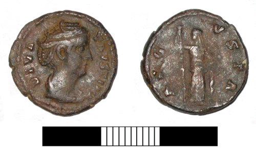SUR-25F816: Roman coin: Denarius of Faustina I