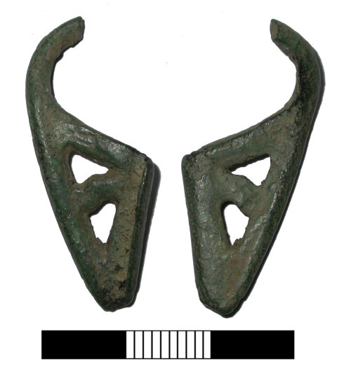 SUR-50A5E7: Iron age - roman: Possible Colchester brooch