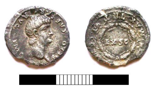 SUR-881F62: Roman coin: Denarius of Nero