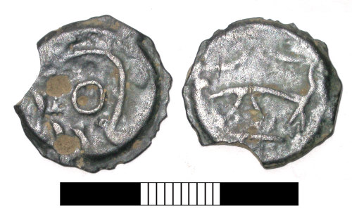 A resized image of Iron age coin: Potin