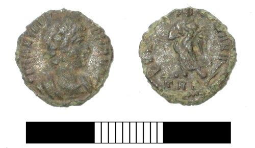 SUR-7D7911: Roman coin: Nummus of Fausta