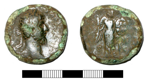 SUR-FCF462: Roman coin: Sestertius of Lucius Verus