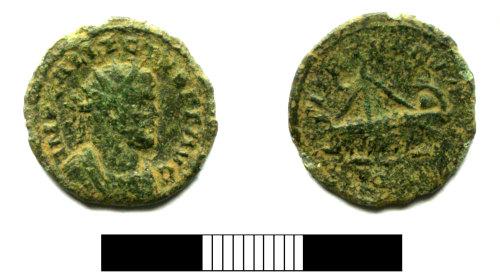 SUR-54DB01: Roman coin: Radiate of Allectus