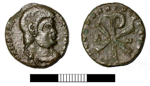 SUR-CF1637: Roman coin: Nummus of Magnentius