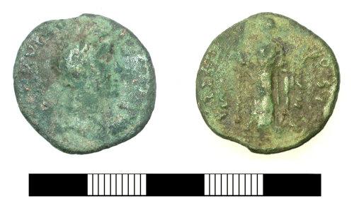 SUR-9D48B7: Roman coin: As possibly of Marcus Aurelius