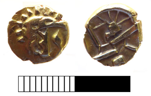 SUR-9531E7: Iron age coin: Stater of the Durotriges