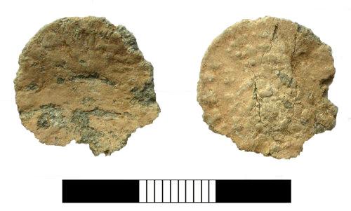 SUR-56E1A6: Post medieval: Lead token