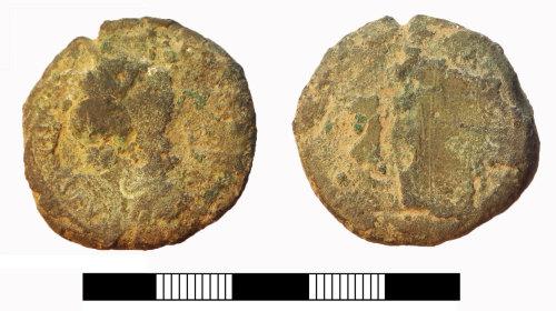 SUR-E56711: Roman coin: Sestertius possibly of Faustina junior