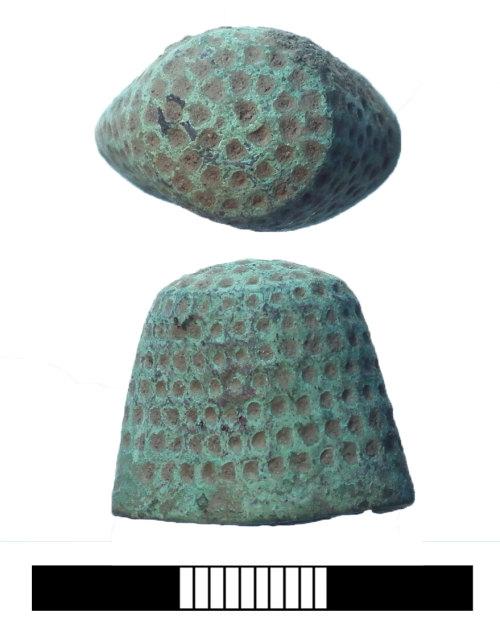 SUR-4718D6: Post medieval: Thimble