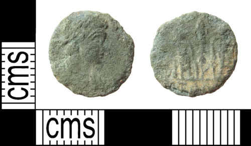 SUR-B095A8: Roman coin: Nummus of the House of Constantine