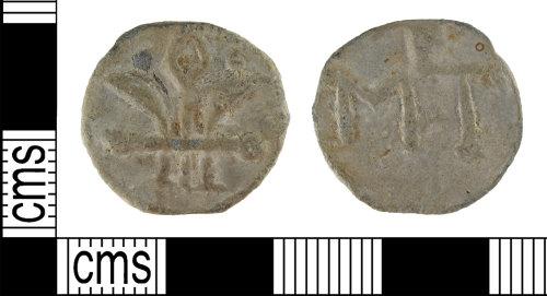 SUR-C2D086: Post Medieval: Lead token