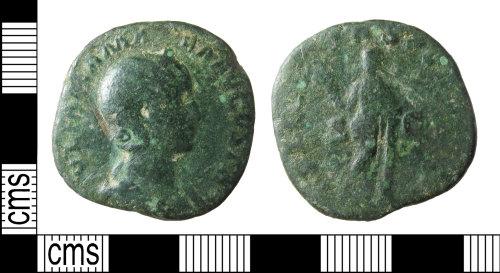 A resized image of Roman coin: Sestertius of Julia Mamaea