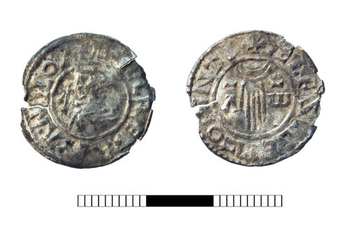 SUR-F67F09: Early Medieval coin:  Penny of Aethelred II