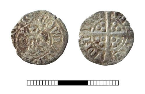 SUR-48AF20: Medieval coin: Penny of Edward I