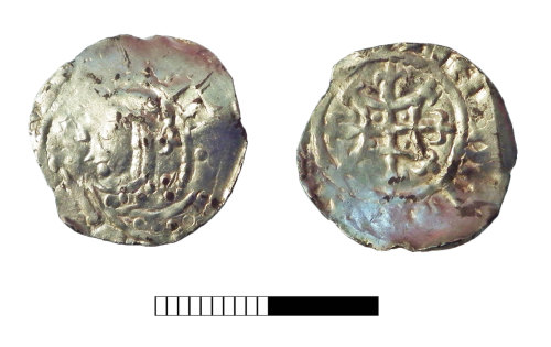 SUR-842CEF: Medieval coin: Penny of Henry I