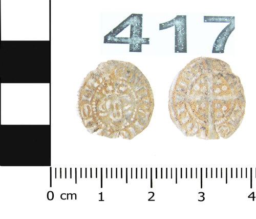 BERK-8676BB: Medieval coin: halfpenny of Edward I