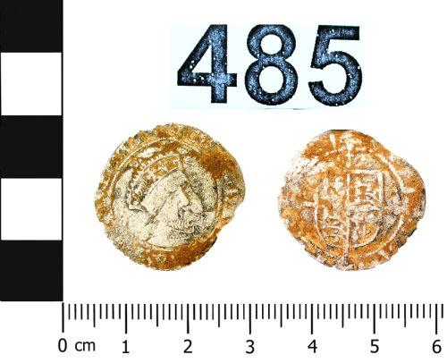 BERK-DB5924: Post-Medieval coin: uncertain denomination of Henry VIIIo