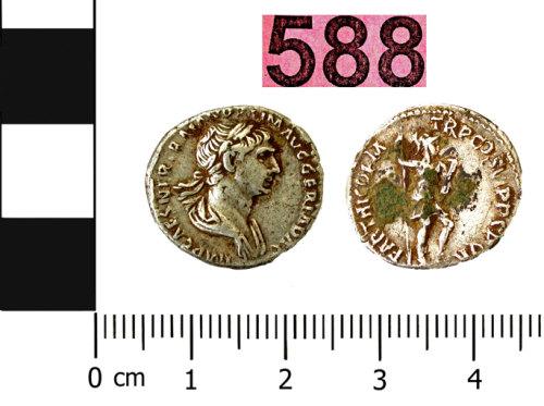 BERK-1B1564: Roman coin: Denarius of Trajan