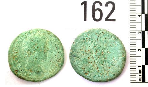BERK-020F1C: Roman coin: sestertius of Marcus Aurelius as Caesar
