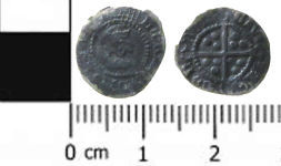 A resized image of Post Medieval Silver Coin: A Half Penny of Henry VIII
