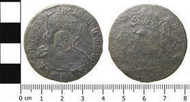 A resized image of Milled Spanish Coin: A Counterstruck Dollar of Charles IV