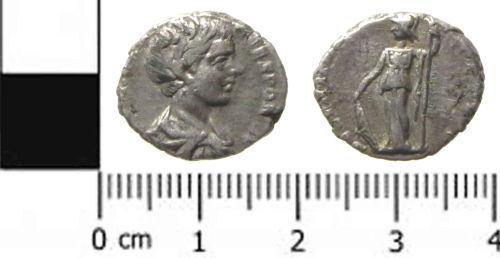 SWYOR-897573: Roman Coin: A Denarius of Caracalla as Caesar