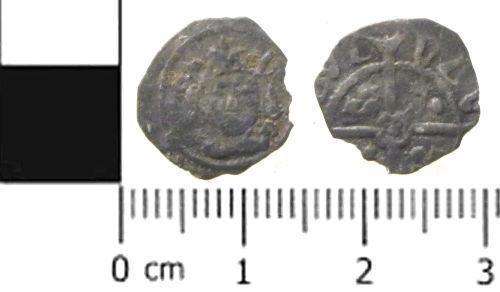 SWYOR-3D2431: Medieval Irish Silver Coin: A Penny of Edward IV