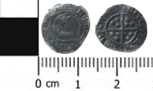 SWYOR-32D8E4: Post Medieval Silver Coin: A Half Penny of Henry VIII