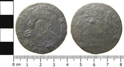 SWYOR-FB3863: Milled Spanish Coin: A Counterstruck Dollar of Charles IV