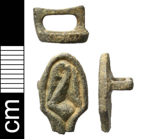NMS-3AEDB8: Early Medieval Ansate Brooch